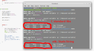 sprintf, atoi and atof blow out the size of binaries, sometimes by up to 30kB